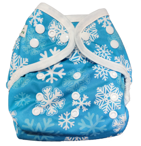 Newborn SimpL Diaper Cover - Let It Snow