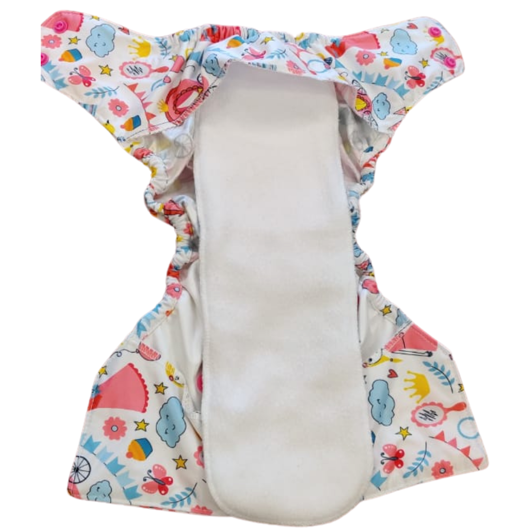 Diwas Diaper Cover with Two DayTime Inserts - Alchemist