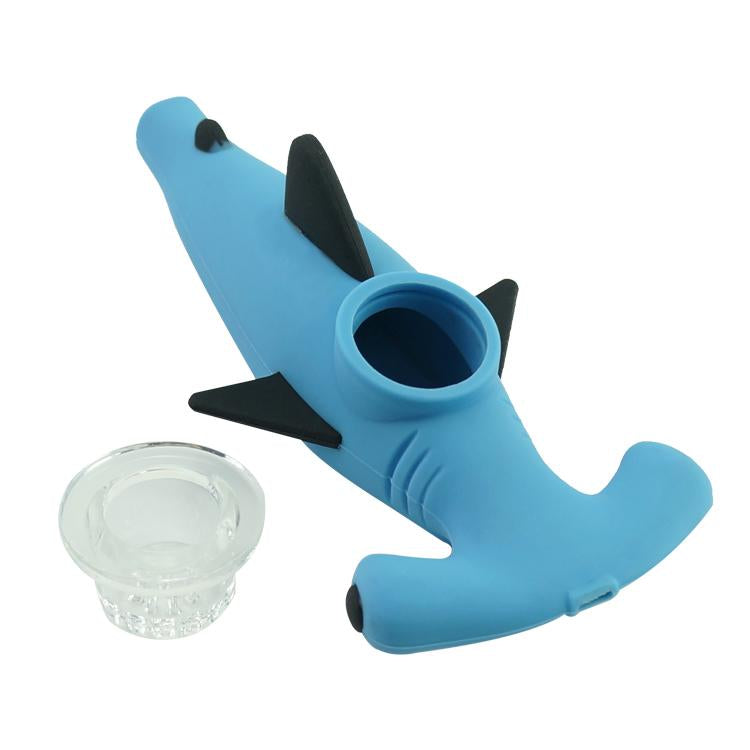 Hammer Head Shark Silicone Pipe