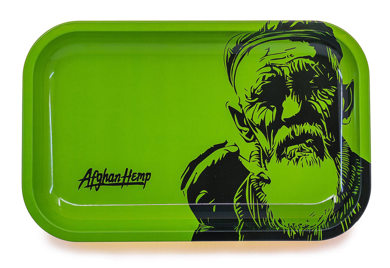Afghan Hemp - Metal Rolling Tray (Case of 36)