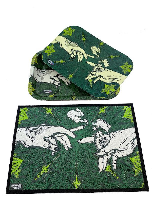 Puff Puff Pass It Moodmat & Matching Tray w/ Lid