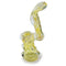 "Glass Bubbler - Yellow Smoke Bubbler (6"")"