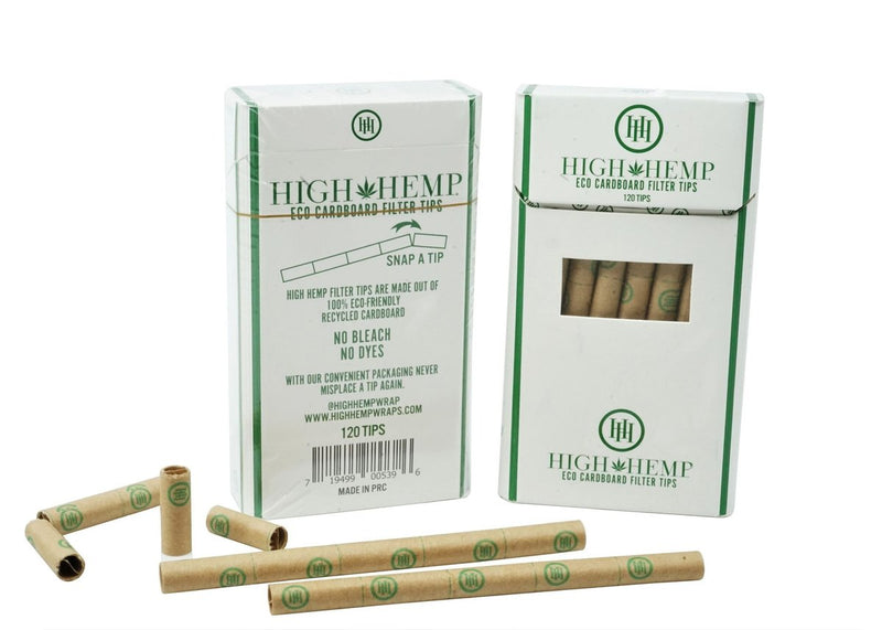 High Hemp Eco Cardboard Filter Tips (Box of 12)
