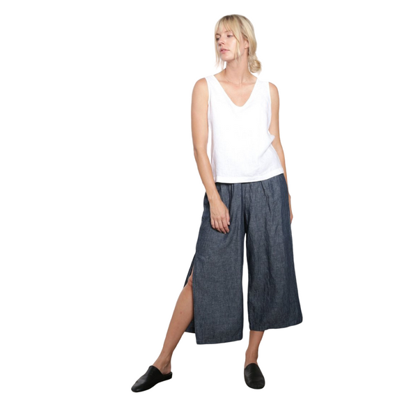 Cropped Slit Pant