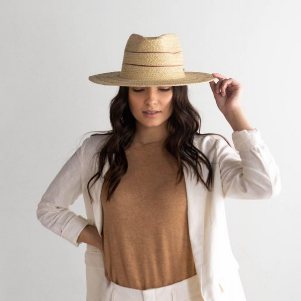 Camila Straw Fedora - Natural