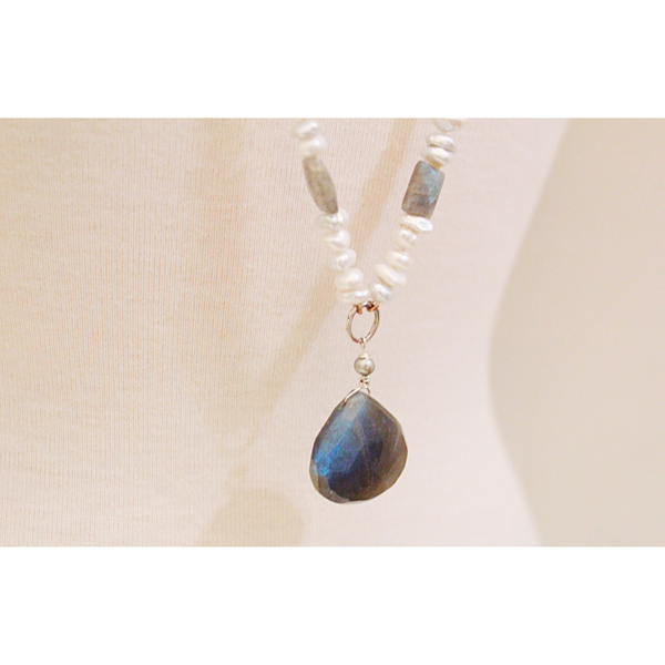 Keishi + Labradorite Long Necklace