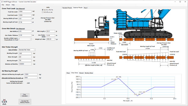 Crawler Crane Mat Calculator 30-Day Trial