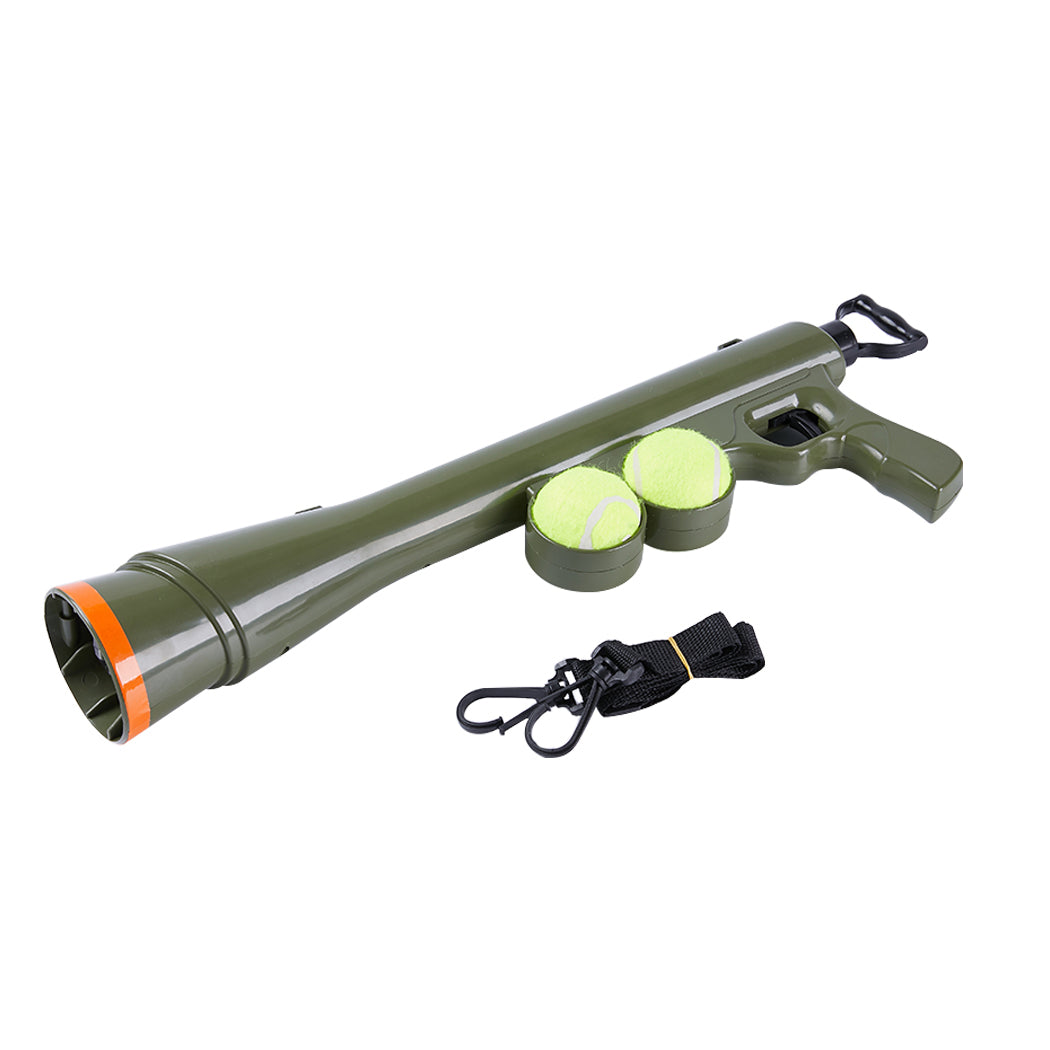 Dog Tennis Ball Launcher Thrower Gun Large Automatic Pet Throw Balls Outdoor