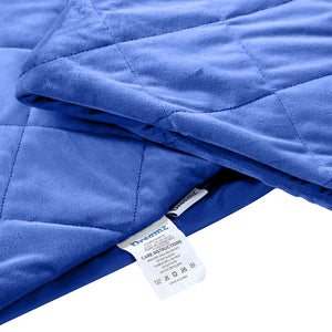 DreamZ 5KG Anti Anxiety Weighted Blanket Gravity Blankets Royal Blue Colour