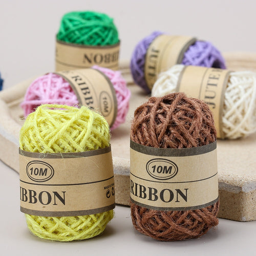 10m Natural Jute Twine DIY Rope Cord Hemp Ropes