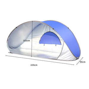Mountview Pop Up Tent Beach Camping Tents 2-3 Person Hiking Portable Shelter Mat
