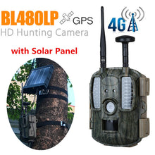 Load image into Gallery viewer, 4G Hunting Camera GPS MMS with 3000mah Solar Panel Night Vision Trail Camera GSM GPRS Photo-traps  IOS Android APP