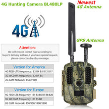 Load image into Gallery viewer, 4G Hunting camera GPS FTP Camera trail Email with 4G Hunting Wildlife camera support MMS GPRS GSM Photo traps 4G Night vision