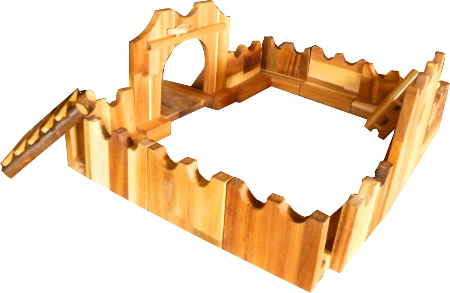 Wooden jumbo castle building set
