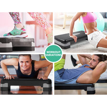 Load image into Gallery viewer, Everfit 2 Level Block Aerobic Step Bench