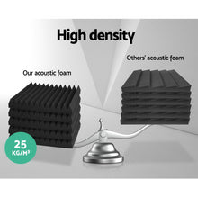 Load image into Gallery viewer, 60pcs Studio Acoustic Foam Sound Absorption Proofing Panels 30x30cm Black Wedge