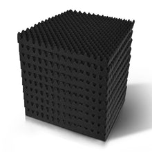 Load image into Gallery viewer, 20pcs Studio Acoustic Foam Sound Absorption Proofing Panels 50x50cm Black Eggshell
