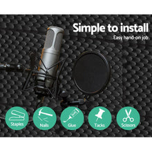 Load image into Gallery viewer, 60pcs Studio Acoustic Foam Sound Absorption Proofing Panels 50x50cm Black Eggshell