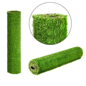 Primeturf Synthetic 30mm  0.95mx10m 9.5sqm Artificial Grass Fake Turf 4-coloured Plants Plastic Lawn