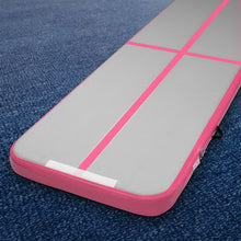 Load image into Gallery viewer, Everfit 3m x 1m Air Track Mat Gymnastic Tumbling Pink and Grey