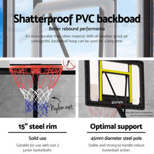 Load image into Gallery viewer, Everfit Adjustable Portable Basketball Stand Hoop System Rim