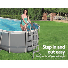 Load image into Gallery viewer, Bestway Above Ground Pool Ladder with Removable Steps