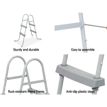Load image into Gallery viewer, Bestway Ladder Above Ground Swimming Pools 84cm 32 inch Deep Removable Steps