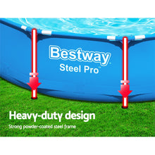 Load image into Gallery viewer, Bestway Swimming Pool Above Ground Pools Filter Pump Powewr Steel Frame