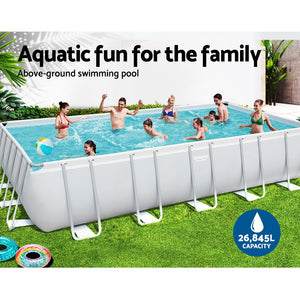 Bestway Above Ground Swimming Pool Power Steel™ Rectangular Frame Pools Filter