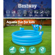 Load image into Gallery viewer, Bestway Inflatable Kids Play Pool 3 Ring Elephant Spray Splash Pools Game Toy