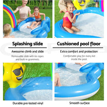 Load image into Gallery viewer, Bestway Swimming Pool Rainbow Slide Play Above Ground Kids Inflatable Pools