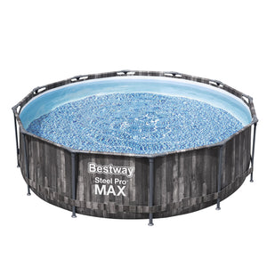 Bestway Swimming Pool Above Ground Frame Steel Pro MAX Pools Filter Pump Ladder