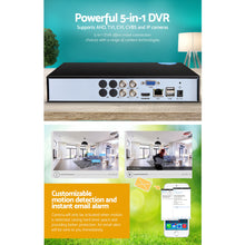 Load image into Gallery viewer, UL-TECH 5 IN 1 4CH DVR Video Recorder CCTV Security System HDMI 1080P