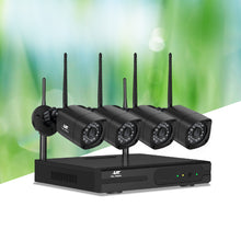 Load image into Gallery viewer, UL-TECH 1080P 4CH NVR Wireless 4 Security Cameras Set
