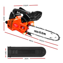 "Load image into Gallery viewer, GIANTZ 25cc Commercial Petrol Chainsaw 10"" Oregon Bar E-Start Chains Saw Tree"