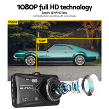 Load image into Gallery viewer, UL Tech 4 Inch Dual Camera Dash Camera - Black