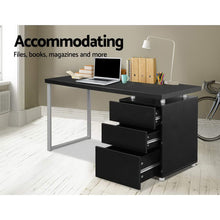 Load image into Gallery viewer, Artiss Metal Desk with 3 Drawers - Black