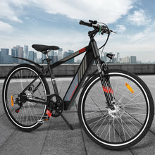 "Load image into Gallery viewer, Phoenix 27"" Electric Bike eBike e-Bike City Mountain Bicycle LG Lithium Battery Black"