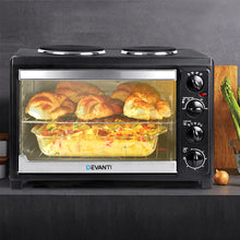Load image into Gallery viewer, Devanti 45L Convection Oven with Hotplates - Black
