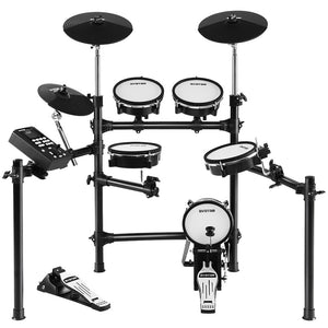 8 Piece Electric Electronic Drum Kit Mesh Drums Set Pad Tom Midi For Kids Adults