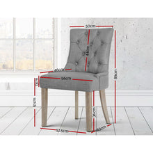 Load image into Gallery viewer, Artiss French Provincial Dining Chair - Grey