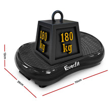 Load image into Gallery viewer, Everfit Vibration Machine Plate Platform Body Shaper Home Gym Fitness Black