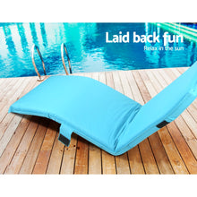 Load image into Gallery viewer, Artiss Adjustable Beach Sun Pool Lounger - Blue