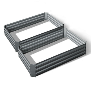 Greenfingers Garden Bed 2PCS 120X90X30CM Galvanised Steel Raised Planter
