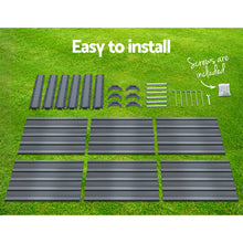 Load image into Gallery viewer, Greenfingers Garden Bed 2PCS 130X130X46CM Galvanised Steel Raised Planter