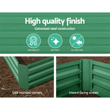 Load image into Gallery viewer, Green Fingers Set of 2 120 x 90cm Raised Garden Bed - Green