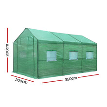 Load image into Gallery viewer, Greenfingers Greenhouse Garden Shed Green House 3.5X2X2M Greenhouses Storage Lawn
