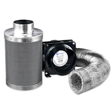 Load image into Gallery viewer, Green Fingers Ventilation Fan and Active Carbon Filter Ducting Kit