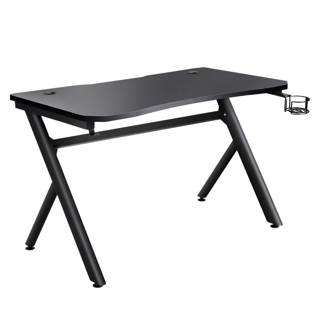 Artiss Gaming Desk Home Office Carbon Fiber Computer Table Racer Desks Black