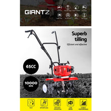 Load image into Gallery viewer, Giantz 72CC Garden Cultivator Tiller Petrol Rotary Hoe 36 Tines Rototiller